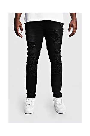 Boohoo Plus Size Skinny Fit Jeans With Distressing