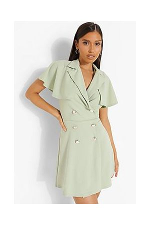 Boohoo Cape Detail Blazer Dress
