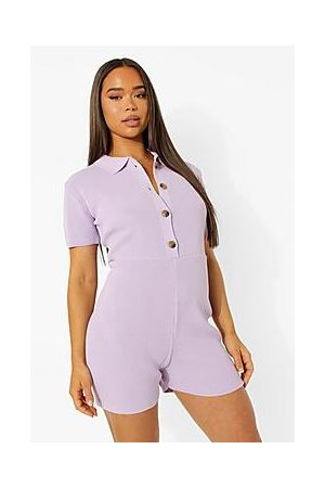 Boohoo Knitted Playsuit