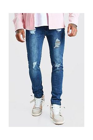 Boohoo Super Skinny Jeans With Heavy Distressing