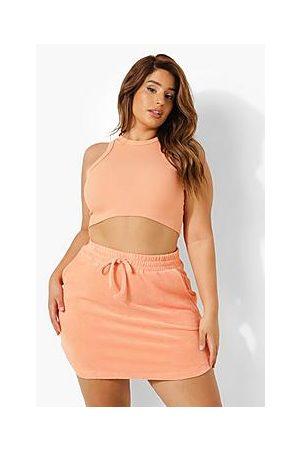 Boohoo Plus Towelling Mini Skirt
