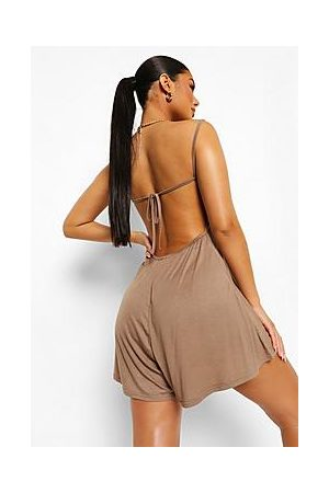 Boohoo Open Strappy Back Swing Playsuit