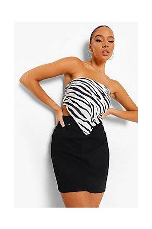 Boohoo Basic Stretch Denim Skirt