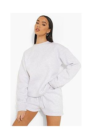 Boohoo Woman Embroidered Sweater Short Tracksuit