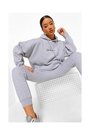Boohoo Oversized Woman Embroidered Hooded Tracksuit