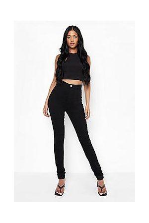 Boohoo Naiset Korkeavyötäröiset - Tall High Waisted Skinny Jeans
