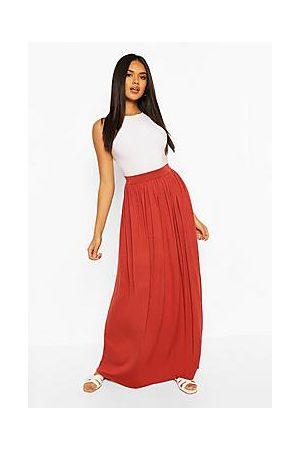 Boohoo Basic Floor Sweeping Jersey Maxi Skirt