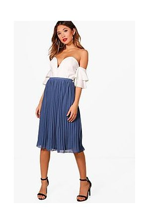 Boohoo Naiset Midihameet - Chiffon Pleated Midi Skirt