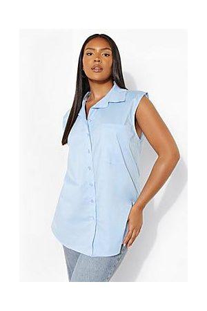 Boohoo Plus Sleeveless Oversized Shirt