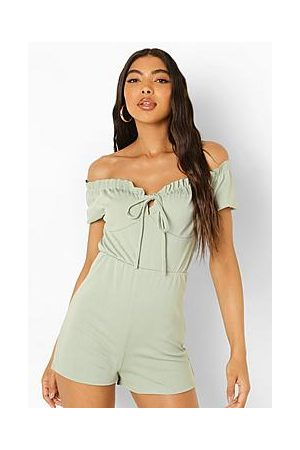 Boohoo Tall Off The Shoulder Gypsy Playsuit
