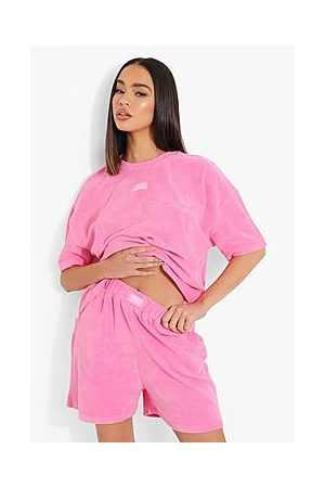 Boohoo Ofcl Woven Tab Towelling Short