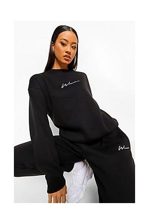 Boohoo Woman Embroidered Sweater Tracksuit