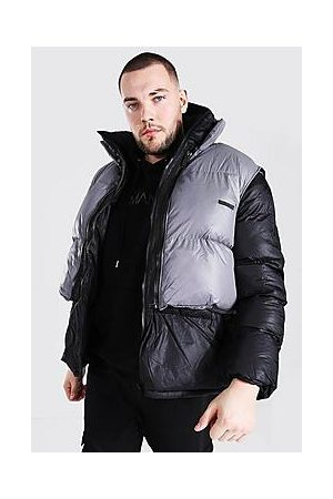 Boohoo Plus Size Puffer With Detachable Gilet