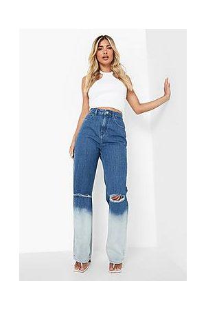 Boohoo Ripped Knee Ombre Boyfriend Jeans