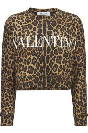 VALENTINO Naiset Collegepaidat - Logo Printed Cotton Jersey Sweatshirt