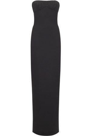 Saint Laurent Wool Bustier Gown