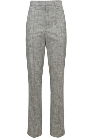 Isabel Marant Lirokia Checked Suit Cotton Pants