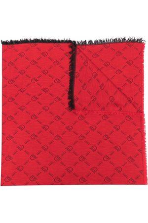 Pinko Naiset Huivit - Monogram-print knitted scarf