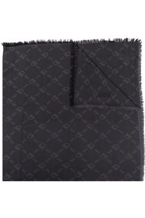 Pinko Logo-embroidered knitted scarf
