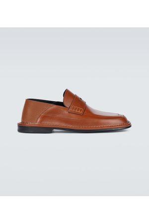 Loewe Slip-on leather loafers