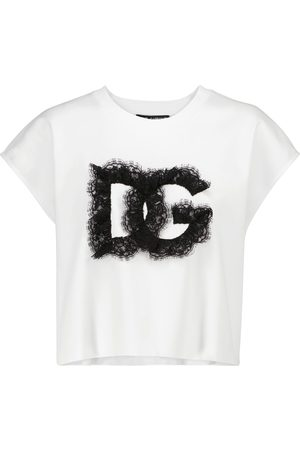 Dolce & Gabbana Naiset T-paidat - Logo cotton T-shirt