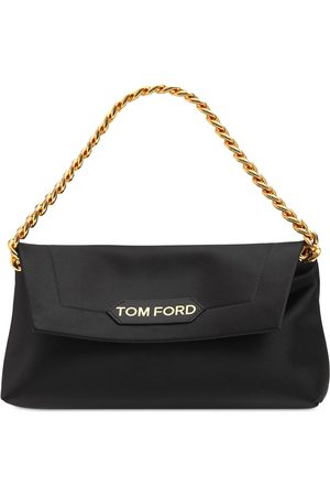 Tom Ford Small Satin Label Leather Bag W/chain