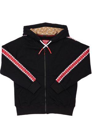 Sprayground Zip-up Cotton Sweatshirt Hoodie W/ Bands