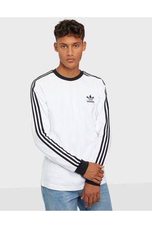adidas Miehet Neulepaidat - 3-Stripes Ls T Neuleet & swetarit White
