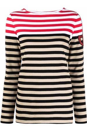 Patou Naiset T-paidat - Stripe print longsleeved T-shirt