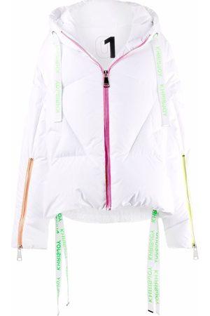 Khrisjoy Puff neon-trimmed padded jacket