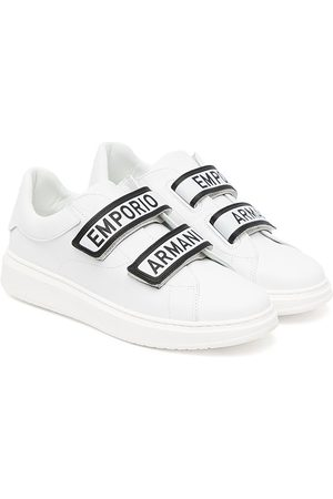 Emporio Armani Tennarit - Touch-strap leather sneakers