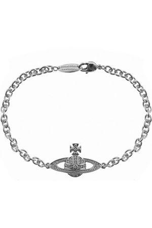 Vivienne Westwood Miehet Rannekorut - Mini Relief Chain Bracelet Silve