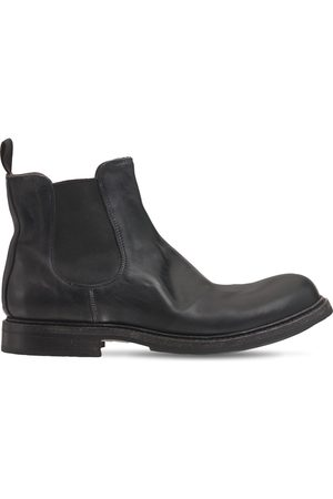 SHOTO Miehet Nilkkurit - Washed Leather Chelsea Boots