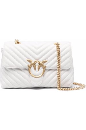 Pinko Logo-plaque quilted leather satchel bag