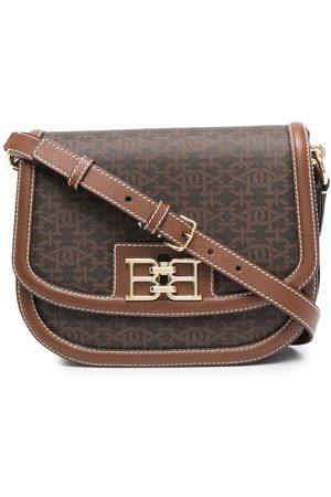 Bally Naiset Olkalaukut - Logo-plaque leather satchel bag