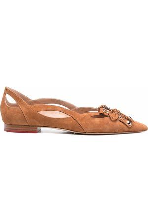 Scarosso X Paula Cademartori Sunflower ballerina shoes