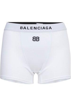 Balenciaga Stretch Cotton Jersey Mini Sport Shorts