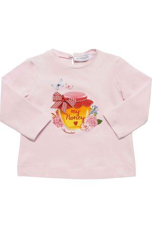 MONNALISA Tytöt T-paidat - Honey Print L/s Cotton Jersey T-shirt