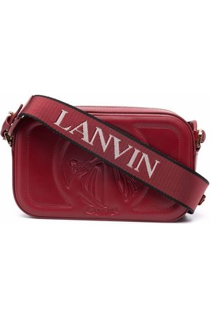 Lanvin Naiset Olkalaukut - Logo-debossed leather camera bag