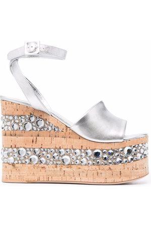 HAUS OF HONEY Naiset Sandaletit - Metallic-effect platform sandals