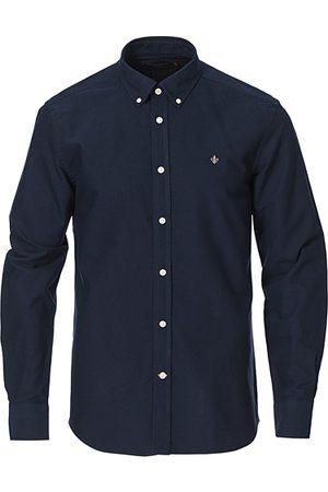 Morris Oxford Button Down Cotton Shirt Navy