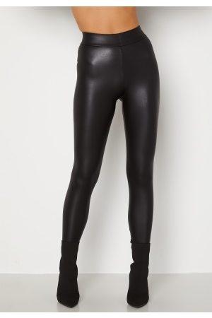 Pieces Naiset Leggingsit - New Shiny HW Leggings Black XS/S