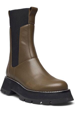 3.1 Phillip Lim Kate - Lug Sole Combat Boot Shoes Chelsea Boots Ruskea