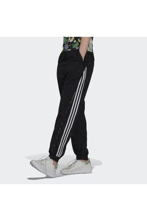 adidas Naiset Collegehousut - Floral Piping Woven High-Waist Track Pants
