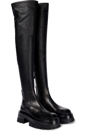 VERSACE Leonidis over-the-knee leather boots