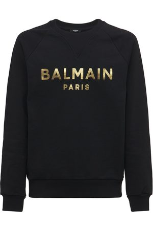 BALMAIN Miehet Collegepaidat - Logo Cotton Jersey Sweatshirt