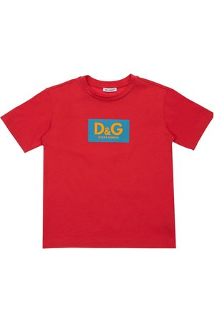 Dolce & Gabbana Logo Print Oversize Cotton T-shirt