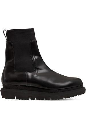 SACAI Leather Chelsea Boots