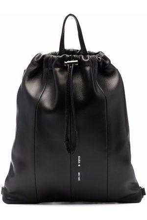 Kara Crystal-trim leather backpack