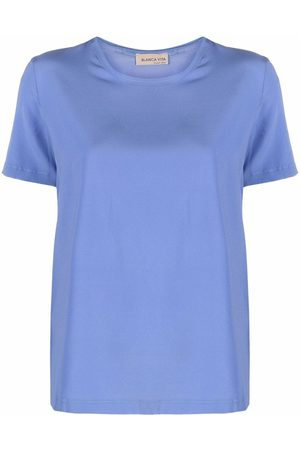 BLANCA Silk-blend T-shirt